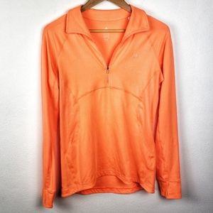 Adidas | Orange Half Zip Climalite Active Pullover
